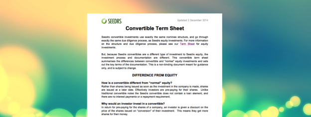 Convertible Term Sheet